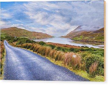 Killary Fjord In Ireland's Connemara Wood Print by Mark E Tisdale