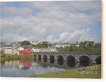 Killorglin Bridge Wood Print by Cindy Murphy - NightVisions