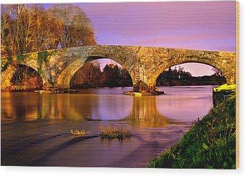 Kilsheelan Bridge At Night Wood Print