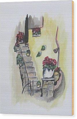 Kimberly's Castellabate Flowers Wood Print