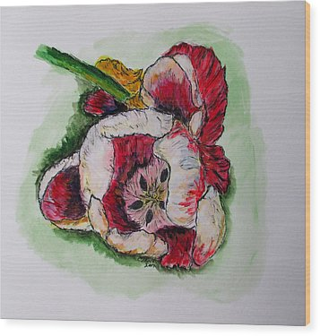 Kimberly's Flowers Wood Print by Clyde J Kell