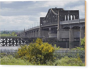 Wood Print featuring the photograph Kincardine Bridge by Jeremy Lavender Photography