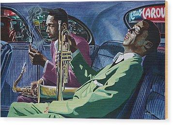 Kind Of Blue   - Miles Davis And John Coltrane Wood Print by Jo King