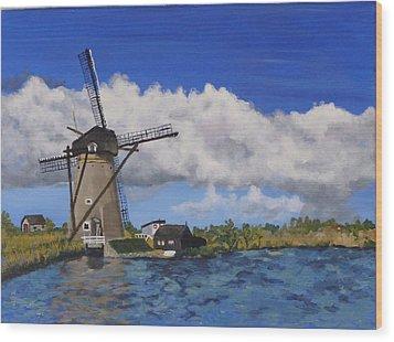 Kinderdijk Wood Print by Diane Arlitt