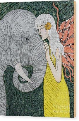 Kindred Souls Wood Print by Natalie Briney