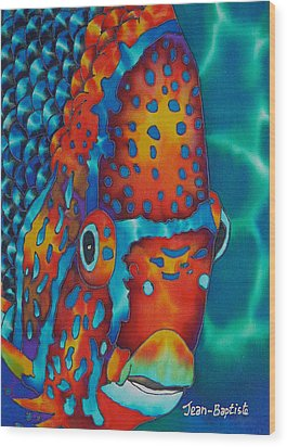 King Angelfish Wood Print by Daniel Jean-Baptiste