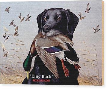 King Buck    1959 Federal Duck Stamp Artwork Wood Print by Maynard Reece