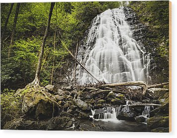 Crabtree Falls - Blue Ridge Parkway North Carolina Wood Print