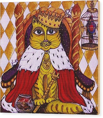 King Cat  Wood Print