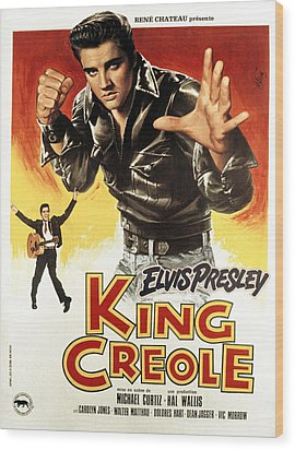 King Creole, Elvis Presley, 1958 Wood Print by Everett