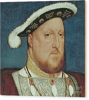 King Henry Viii Wood Print by Hans Holbein the Younger