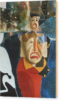 Wood Print featuring the painting King In Peace by Sima Amid Wewetzer