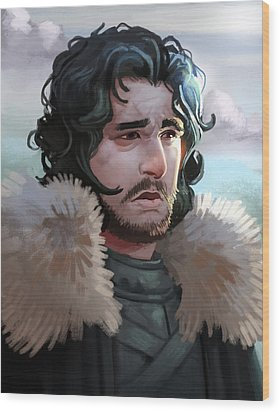 King In The North Wood Print by Michael Myers