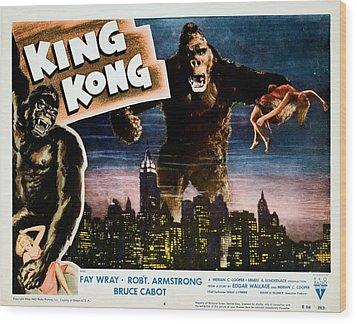 King Kong, Fay Wray, 1933 Wood Print by Everett