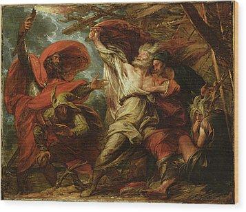 King Lear Wood Print by Benjamin West