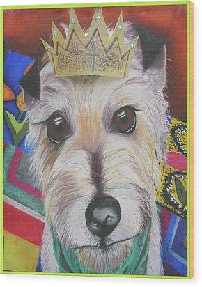 King Louie Wood Print by Michelle Hayden-Marsan