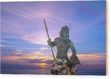 King Neptune's Sunrise Wood Print