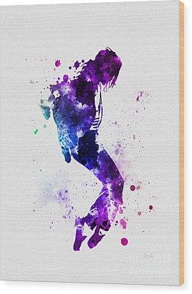 King Of Pop Wood Print by Rebecca Jenkins