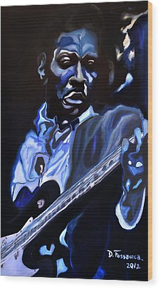 King Of Swing-buddy Guy Wood Print by David Fossaceca