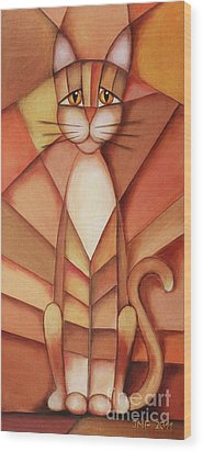 King Of The Cats Wood Print by Jutta Maria Pusl