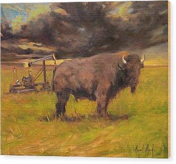King Of The Prairie Wood Print by Margaret Aycock