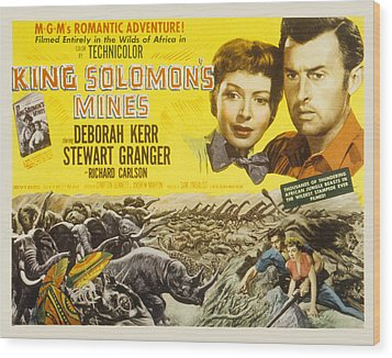 King Solomons Mines, Deborah Kerr Wood Print by Everett