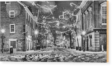 King Street In Black And White Wood Print by JC Findley