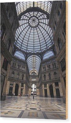 King Umberto I Shopping Arcade Wood Print by Richard Nowitz