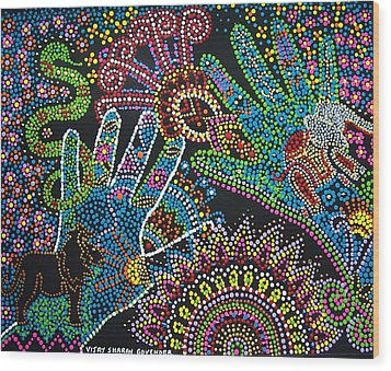 Kingdom Of Avatar Wood Print by Vijay Sharon Govender