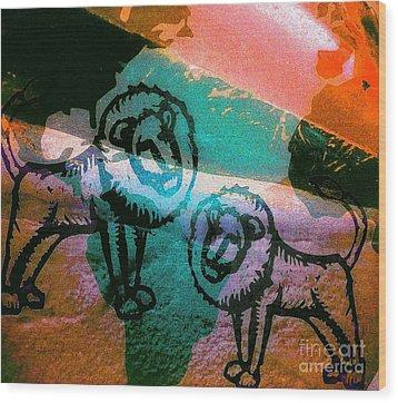 Kings And Kings - Tribe Of Judah Wood Print by Fania Simon
