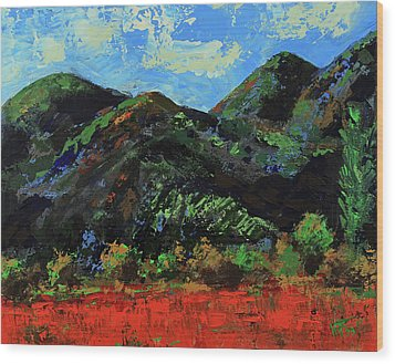 Wood Print featuring the painting Kings Canyon Fall Colors by Walter Fahmy