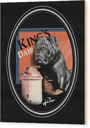 King's Dairy  Wood Print