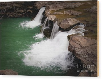 Kings River Falls Wood Print by Tamyra Ayles