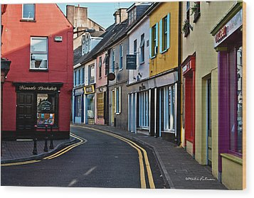 Kinsale Street Wood Print by Edward Peterson