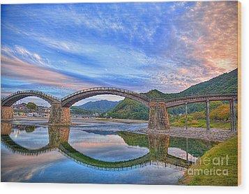 Kintai Bridge Japan Wood Print