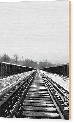 Wood Print featuring the digital art Kinzua Bridge Skywalk by Sharon Batdorf