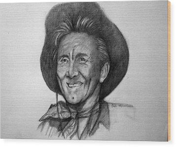 Kirk  Douglas Wood Print by Paul Weerasekera