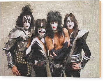 Kiss Band Wood Print
