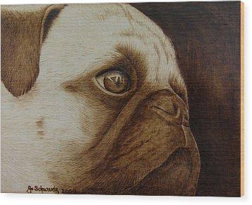 Kiss Me Wood Print by Jo Schwartz