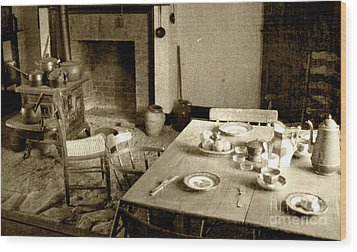 Wood Print featuring the photograph Kitchen Work Area by Pete Hellmann