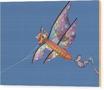 Wood Print featuring the photograph Kite 1 by Maciek Froncisz
