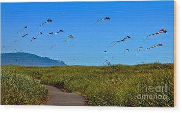 Kites Wood Print by Robert Bales