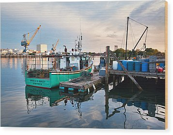Kittery Foreside Wood Print by Eric Gendron