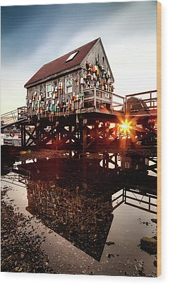 Kittery Lobster Shack Wood Print