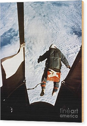 Kittinger Wood Print by SPL and Photo Researchers