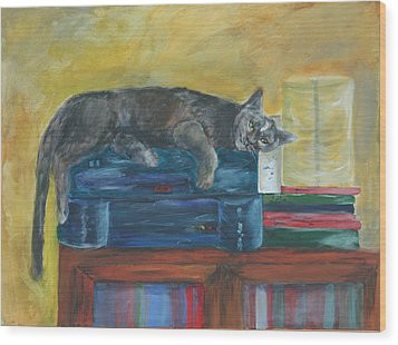 Kitty Comfort Wood Print