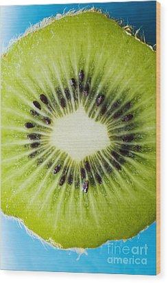 Kiwi Cut Wood Print by Ray Laskowitz - Printscapes