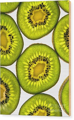 Kiwi Fruit Wood Print