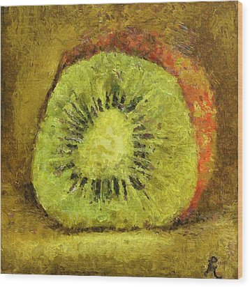 Kiwifruit Wood Print by Dragica  Micki Fortuna
