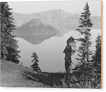 Klamath Chief, C1923 Wood Print by Granger